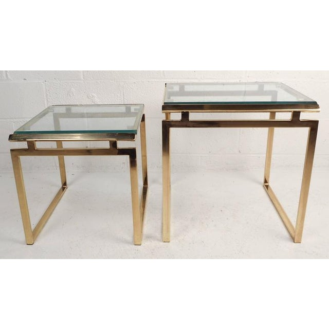Mid-Century Modern Stacking Tables in the Style of Guy Lefevre - Image 5 of 9