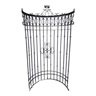 Italianate Wrought Iron Window Grate or Portico, Provenance Celine Dion For Sale