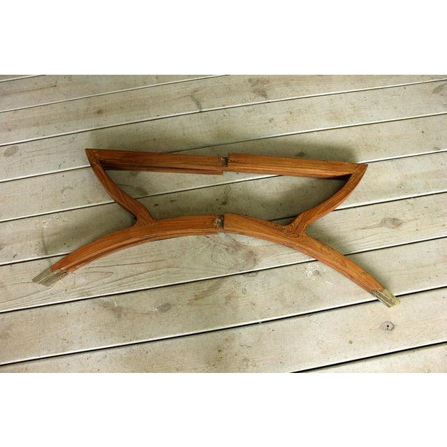 Brass Vintage Hollywood Regency Spider Style Brass Folding Tray Coffee Table For Sale - Image 7 of 8