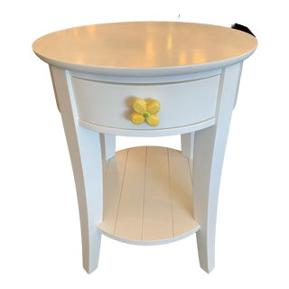 White Side Table by Land of Nod For Sale
