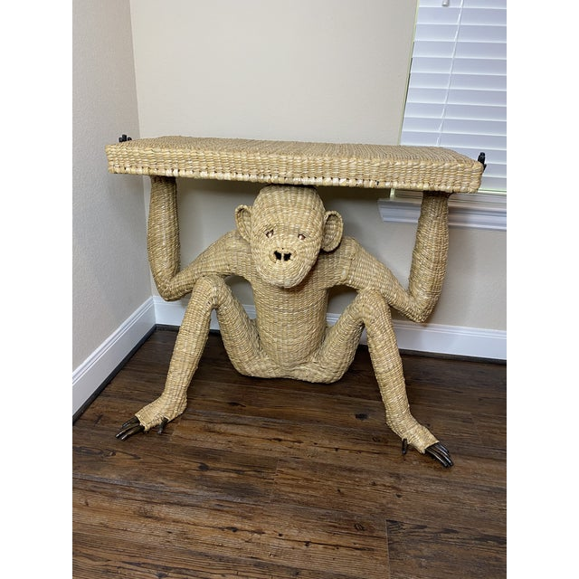 Tan Mario Torres Monkey Console Table For Sale - Image 8 of 8