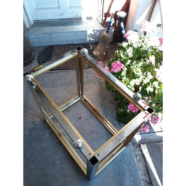 Romeo Rega 1960's Romeo Rega Brass and Chrome Italian Bar Cart For Sale - Image 4 of 10