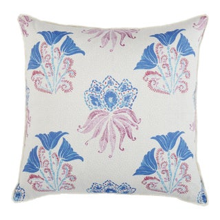 Dehli Lilac Pillow With Eylash Trim For Sale