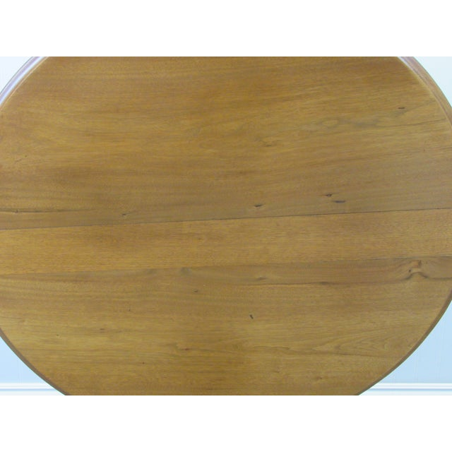 Traditional Vintage Mid Century Traditional Round Lift Top Table For Sale - Image 3 of 11