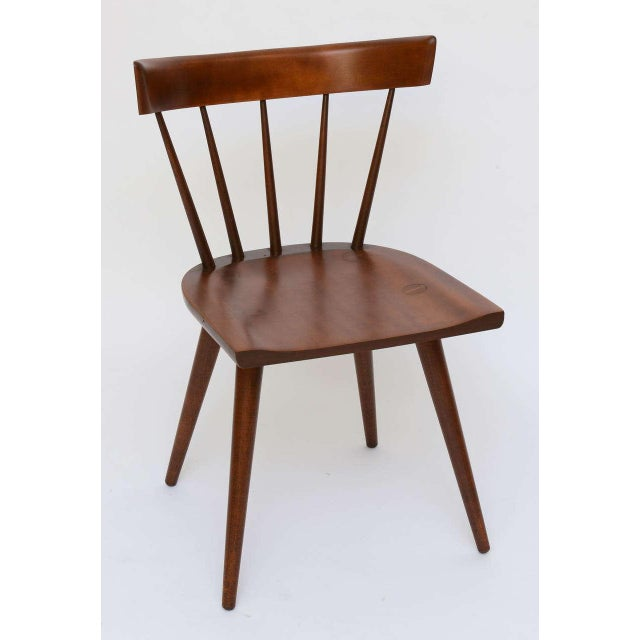 Single Paul McCobb Spindle Back Chair in Dark Maple - Image 3 of 9