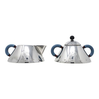 Stainless Creamer and Sugar Michael Graves for Alessi Italy For Sale