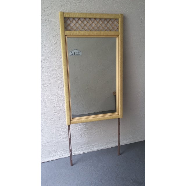 Henry Link Henry Link Tall Wicker Rattan Mirror For Sale - Image 4 of 4