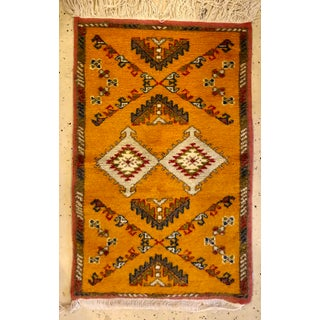Berber Rug - Handwoven X Pattern and Diamond Center Preview