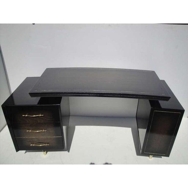 1960s 1960s Mid Century Modern Curved Partner Desk For Sale - Image 5 of 11