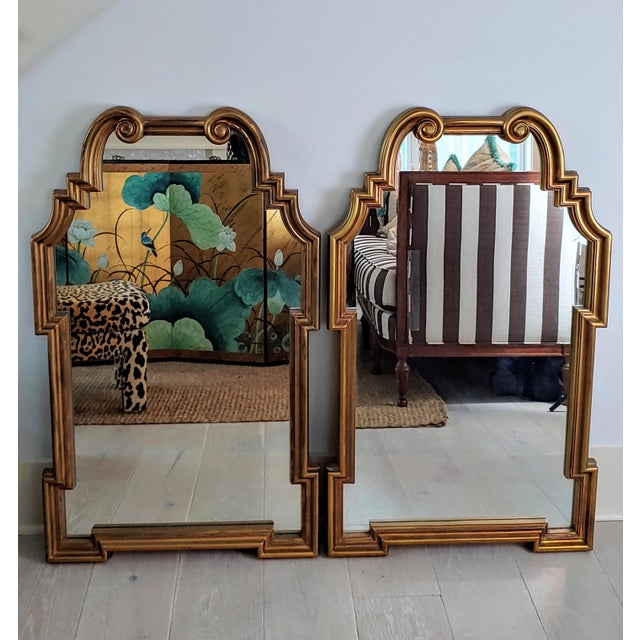 Gold Miles Redd Hollywood Queen Ann Style Mirrors - a Pair For Sale - Image 8 of 9