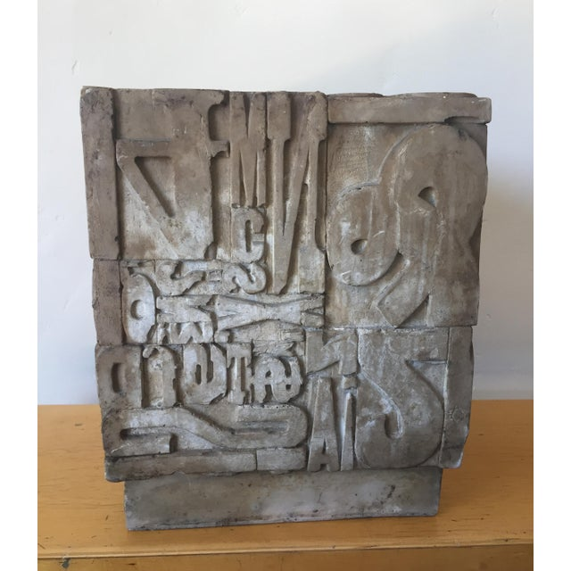 Robert Indiana Sherman Rose Resin Cube Sculpture For Sale - Image 4 of 9