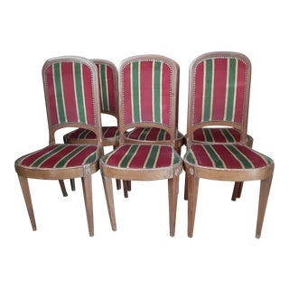 Final Markdown 18th C. Newport Rhode Island Walnut Dining Chairs - Set of 6 For Sale