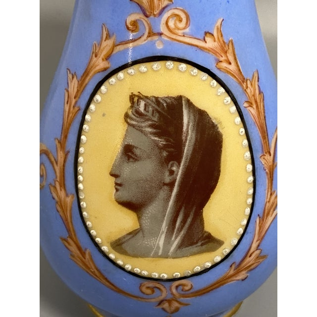 Old Paris Mid 19th Century Victorian Old Paris Porcelain Portrait Vase From Irwin and Lane For Sale - Image 4 of 8