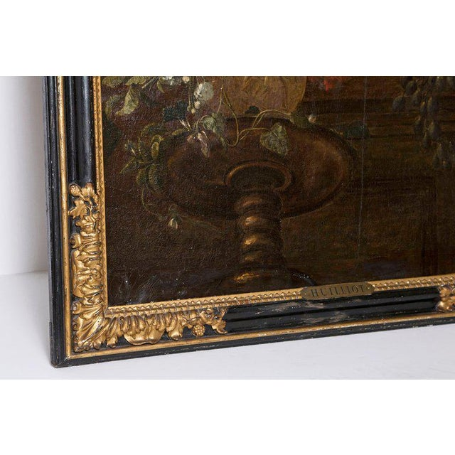 Gold Early 20th Century Oil on Canvas in Manner of Pierre Nicolas Huilliot For Sale - Image 8 of 13
