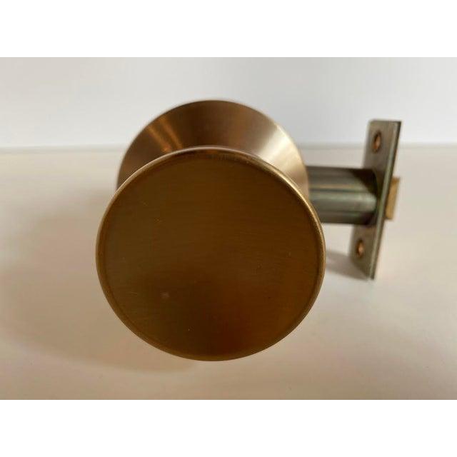 Mid-Century Modern 1960s Mid-Century Modern Satin Bronze Skillman Passage Doorset For Sale - Image 3 of 8