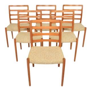 N.o. Møller Model 85 Dining Chairs in Teak - Set of 6 For Sale
