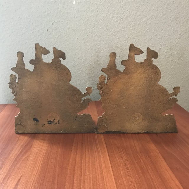 Vintage Brass Schooner Ship Nautical Bookends - a Pair For Sale - Image 4 of 10