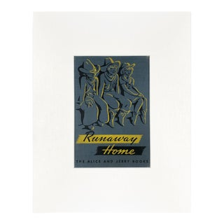 "Vintage ""Runaway Home"" Book Cover Art For Sale"