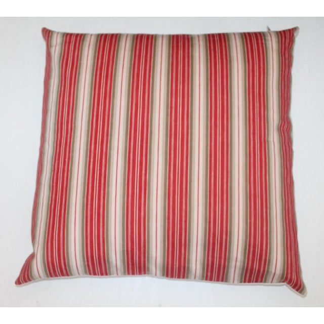 Deep Red background With White Stripes For Sale - Image 5 of 5