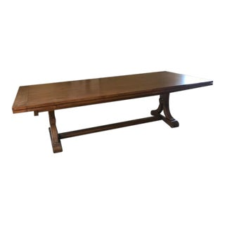 Fremarc Wood Dining Table With Self-Storing Leaves For Sale