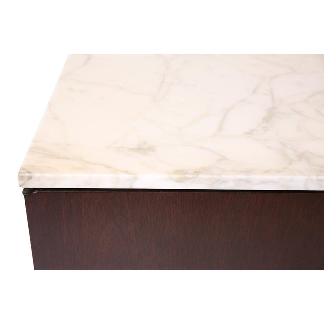 Knoll Knoll Chests With Calacatta Marble Tops - a Pair For Sale - Image 4 of 7