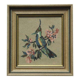 Petite Bird W Tree Blossoms Point Picture For Sale