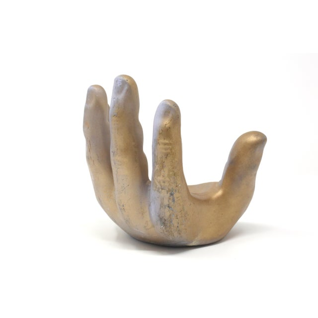 1960s Gold Ceramic Hand Model For Sale - Image 4 of 10