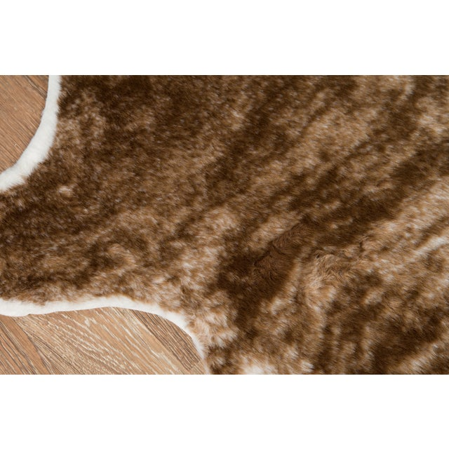 """Modern Erin Gates by Momeni Acadia Brindle Brown Faux Hide Area Rug - 5'3"""" X 7'10"""" For Sale - Image 3 of 7"""