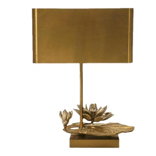 "Maison Charles Doré Bronze ""Water Lily"" Lamp For Sale"