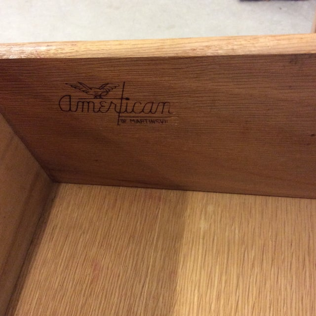 Wood American of Martinsville Solid Wood Buffet Side Board Credenza For Sale - Image 7 of 11