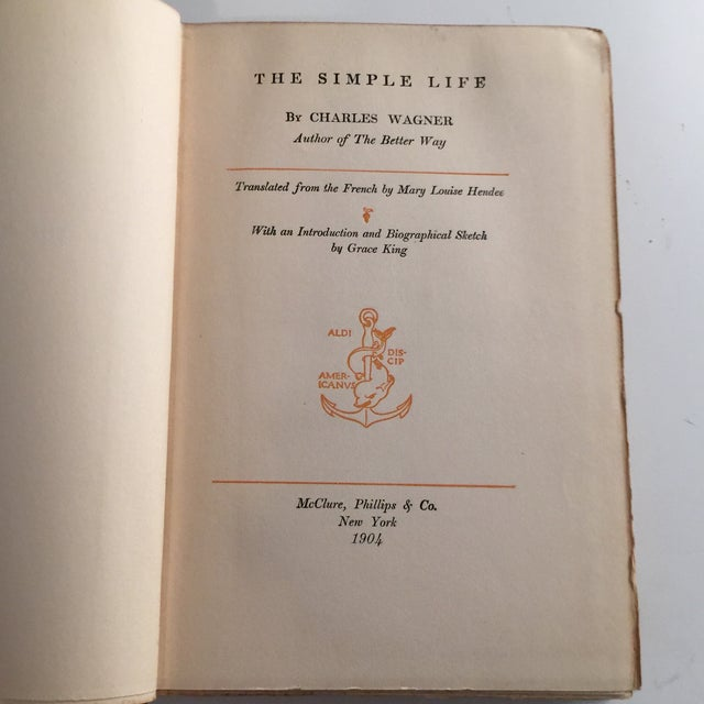 The Simple Life Charles Wagner Hardcover 1904 For Sale - Image 4 of 8