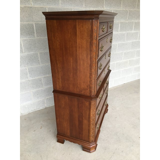 Description: Pennsylvania House Chinese Chippendale Style High Chest. In Very Good Vintage Furniture Condition, Solid...
