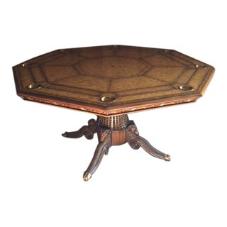 Vintage used maitland smith accent tables chairish maitland smith hexagonal game table gumiabroncs Choice Image