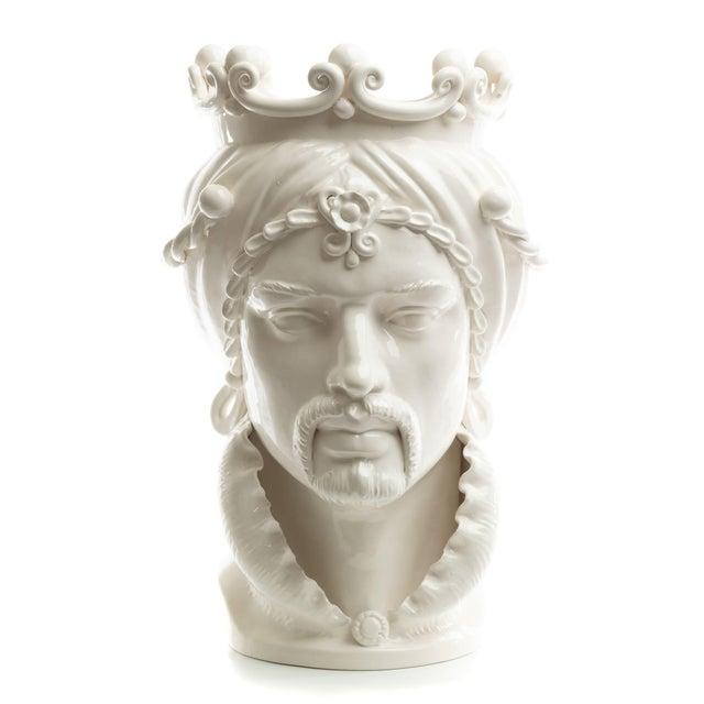 Ceramic Sicilian Gigante Head, Schittone Modern Moro For Sale - Image 7 of 10