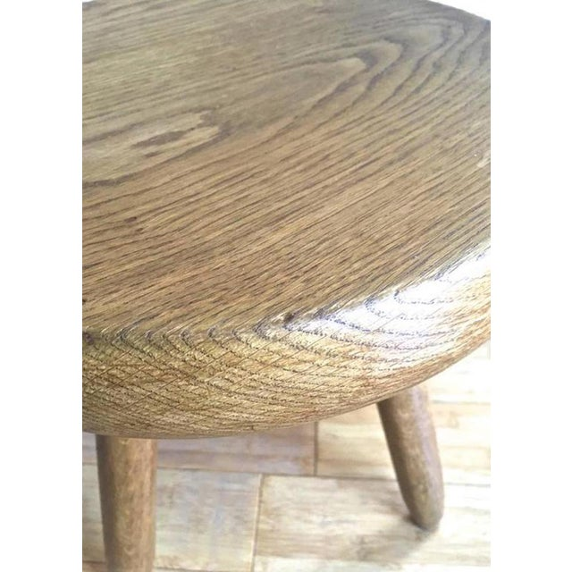 Charlotte Perriand 1950s high tripod ash tree stool in vintage condition. Provenance Steph Simon. Original genuine condition.
