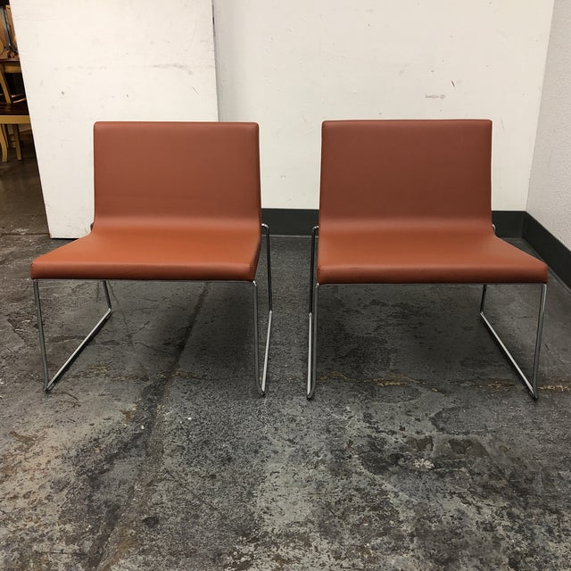 Andreu World Lineal Comfort Collection Side Chairs - A Pair - Image 7 of 7