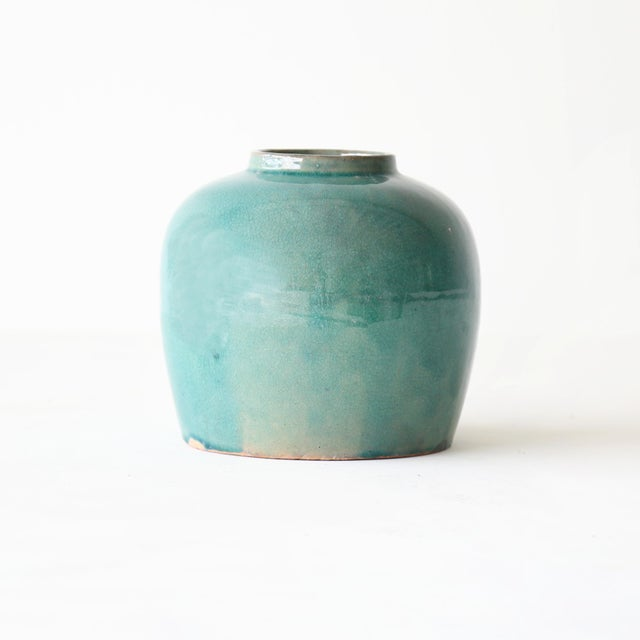 This simple ceramic ginger jar is perfect for any home. The bright tone adds a pop of color in a minimalist way.