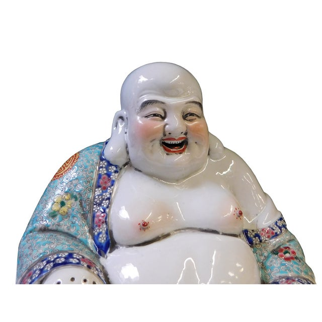 Chinese Porcelain Canton Happy Buddha Statue - Image 5 of 8