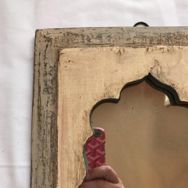 Vintage Indian Archway Painted Teak Mirror - Image 4 of 11