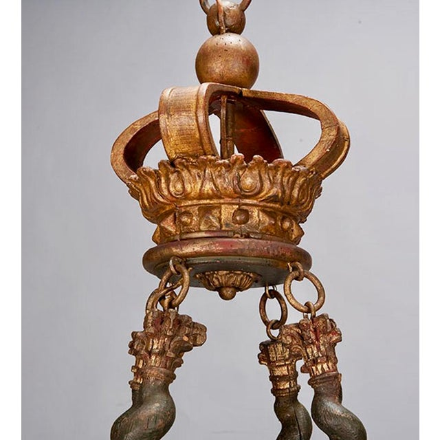 19th Century Custom Eight Arm Chandelier With Italian Crown - Image 4 of 8
