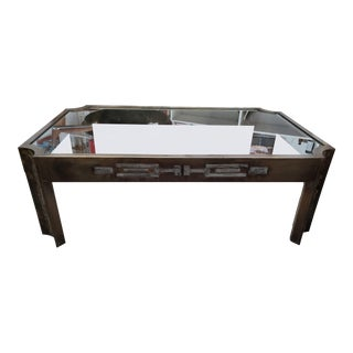 1960s Asian Modern Philip and Kelvin Leverne Brass Coffee Table For Sale
