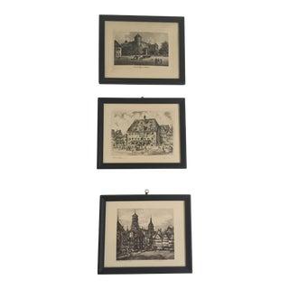 Framed Vintage Prints - Set of 3