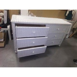 White Wicker Dresser Preview