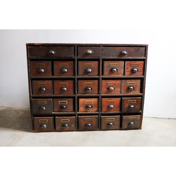 Asian Large Danish Pine Apothecary Cabinet For Sale - Image 3 of 3
