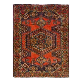 "Vintage Persian Wiss Design Handmade Wool Rug, 1970s - 5' x 6'8"""