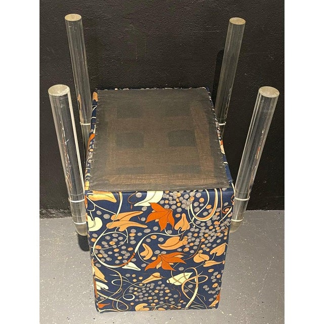 Mid-Century Modern Set of Four Chairs, Tubular Lucite Frames For Sale - Image 11 of 13
