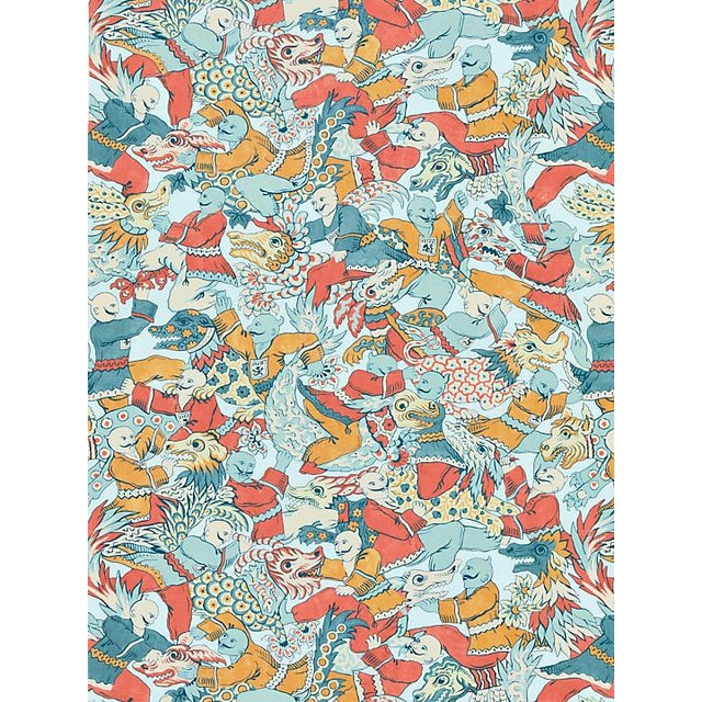Chinoiserie Scalamandre Dragon Dance, Multi Fabric For Sale - Image 3 of 3