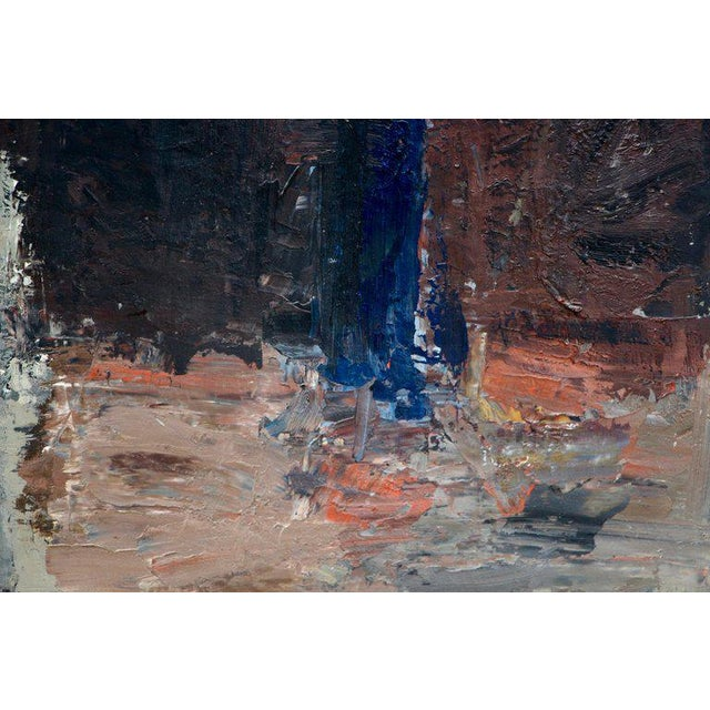 """Abstract """"Blume"""" Oil Exhibited Painting by Swiss Artist Charles Wyrsch For Sale - Image 3 of 8"""