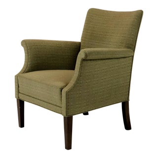 1940s Mid-Century Modern Green Low Back Lounge Chair