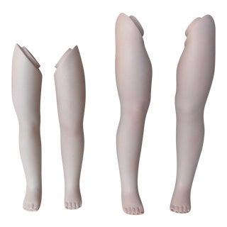Vintage Dolls' Leg Collection - Set of 4